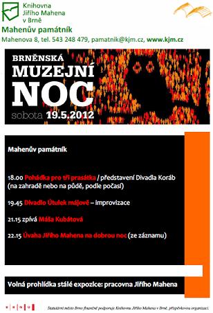 Brněnská muzejní noc plakát