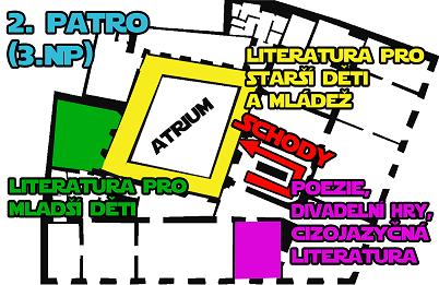 plán Dětská knihovna