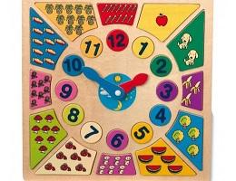 Vkládací výukové puzzle Nauč se hodiny katalog