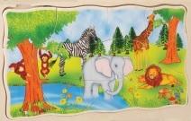Vrstvové puzzle safari katalog