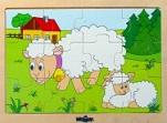 Puzzle dřevěné ovečky katalog